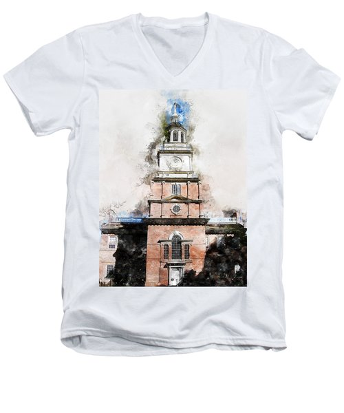 Philadelphia Independence Hall - 01 Men's V-Neck T-Shirt