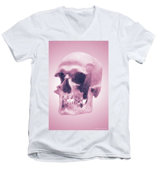 Pink Textures Men's V-Neck T-Shirt