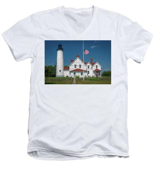 Point Iroquois Lighthouse Men's V-Neck T-Shirt