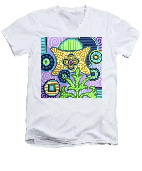 Pop Botanical 2 Men's V-Neck T-Shirt