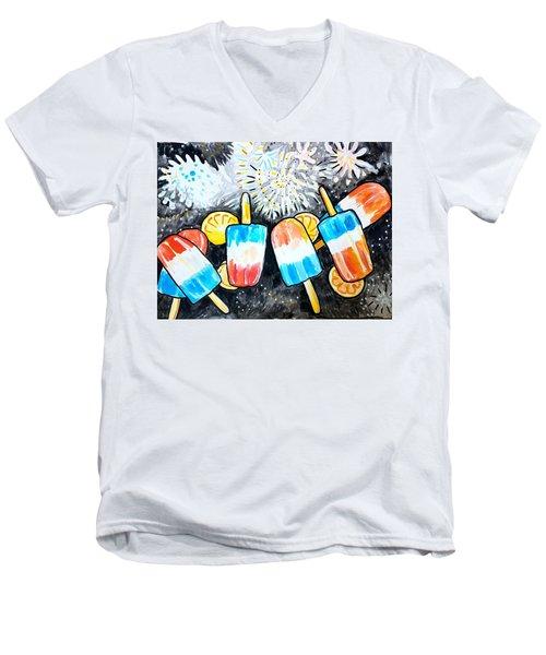 Popsicles And Fireworks Men's V-Neck T-Shirt