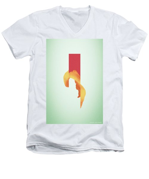 Powder Bone Flare - Surreal Abstract Elephant Bone Collage With Rectangle Men's V-Neck T-Shirt