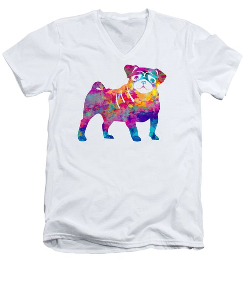 Pug Men's V-Neck T-Shirt