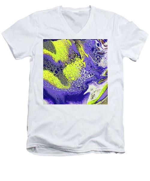 Purple And Yellow Men's V-Neck T-Shirt