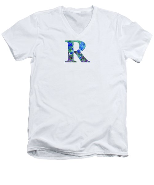 R 2019 Collection Men's V-Neck T-Shirt