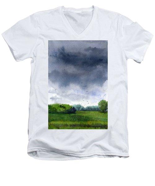 Rains Coming Men's V-Neck T-Shirt