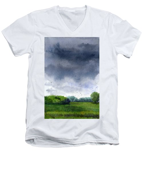 Rains Coming Men's V-Neck T-Shirt