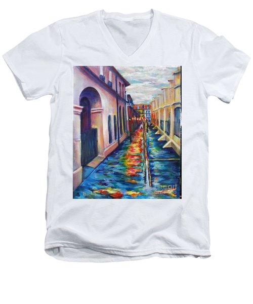 Rainy Pirate Alley Men's V-Neck T-Shirt