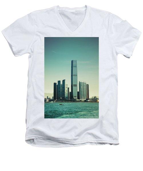 Ramparts Of Commerce Men's V-Neck T-Shirt