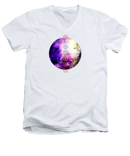 Reach Out To The Stars Men's V-Neck T-Shirt