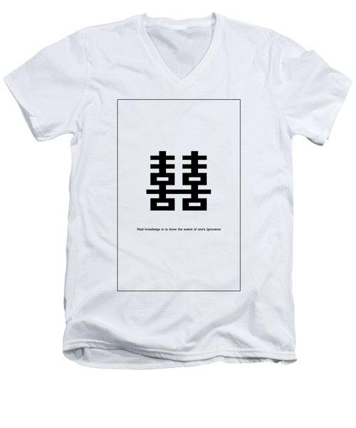 Real Knowledge Men's V-Neck T-Shirt