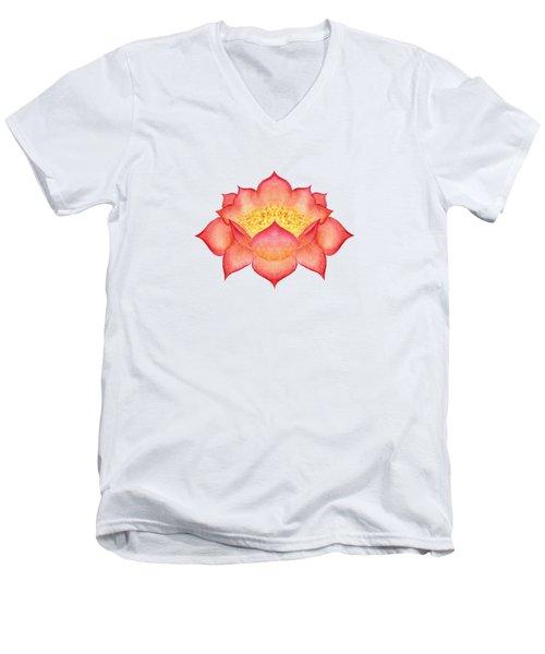 Red Lotus Men's V-Neck T-Shirt