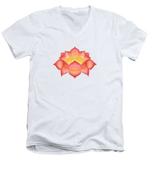 Red Lotus Men's V-Neck T-Shirt
