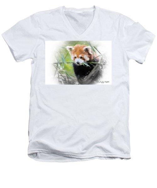 Red Panda Men's V-Neck T-Shirt