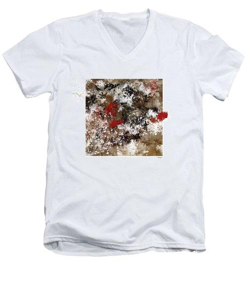 Red Splashes Men's V-Neck T-Shirt