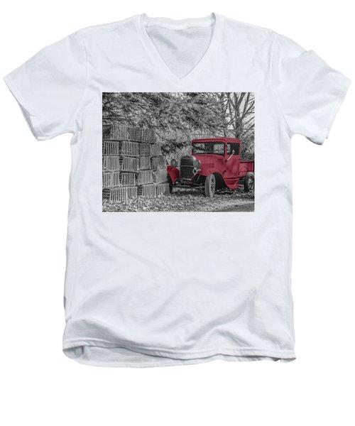 Red Truck Men's V-Neck T-Shirt