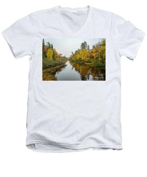 Reflections In Autumn Men's V-Neck T-Shirt