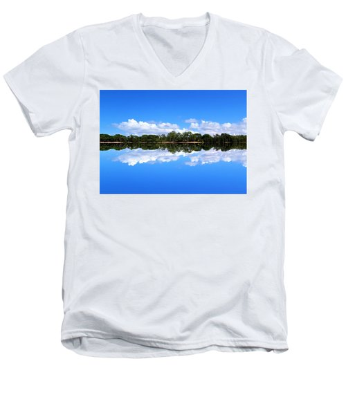Reflective Lake Patricia Men's V-Neck T-Shirt