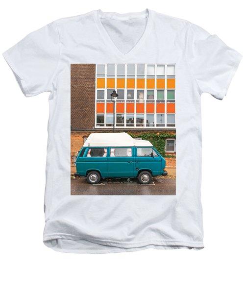 Retro Vibes Men's V-Neck T-Shirt