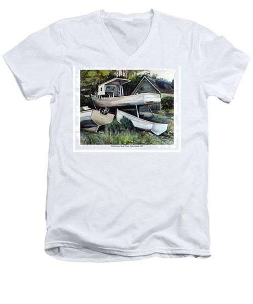 Richardson Boat Shop Men's V-Neck T-Shirt