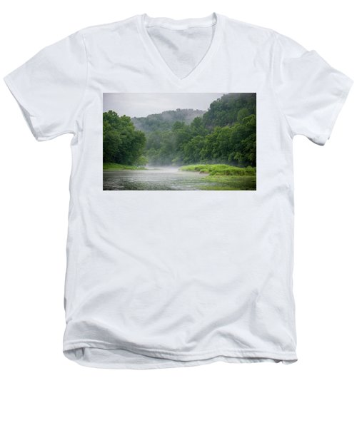 River Mist Men's V-Neck T-Shirt