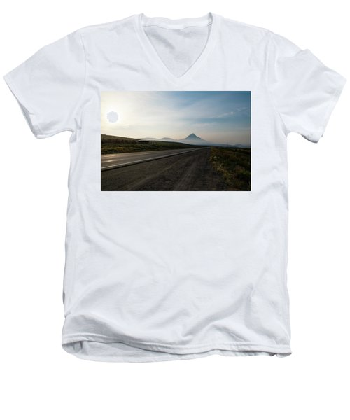 Road Through The Rockies Men's V-Neck T-Shirt