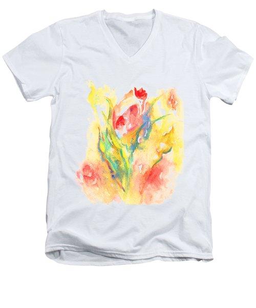 Rose Garden One Men's V-Neck T-Shirt
