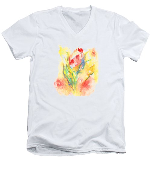 Rose Garden One Men's V-Neck T-Shirt