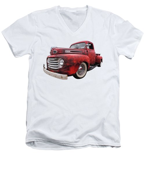 Rusty Jewel - 1948 Ford Men's V-Neck T-Shirt