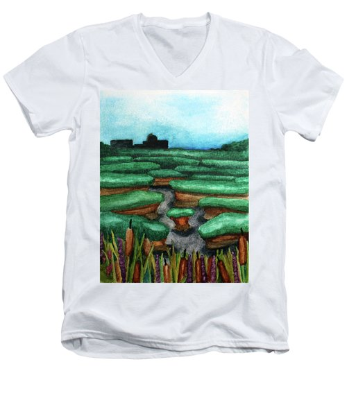 Saltwater Marshes Men's V-Neck T-Shirt