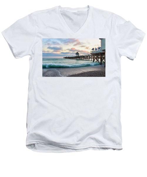 A San Clemente Pier Evening Men's V-Neck T-Shirt