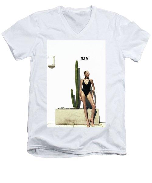 Sasha Dubrovskaya Standing Men's V-Neck T-Shirt