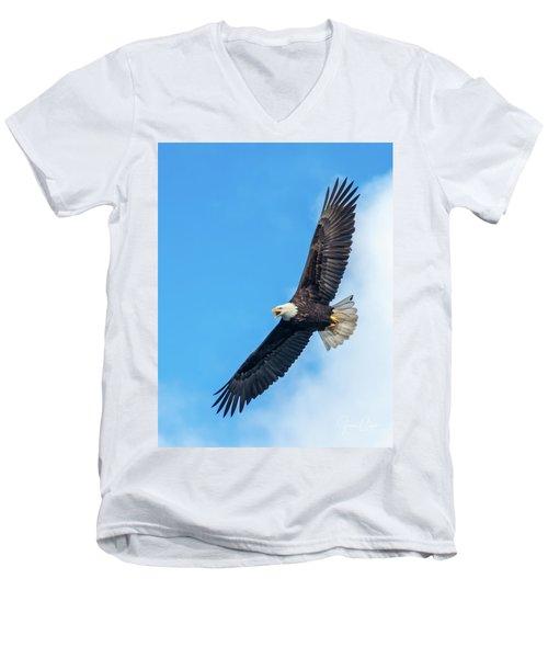 Screaming Eagle #2 Men's V-Neck T-Shirt