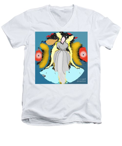 Seeing Angels Men's V-Neck T-Shirt