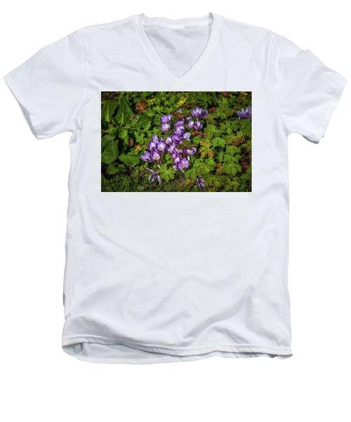 September Crocus #h9 Men's V-Neck T-Shirt