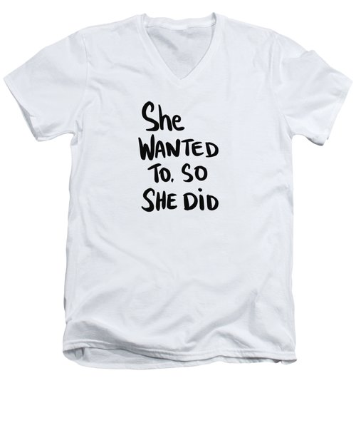 She Wanted To Bold- Art By Linda Woods Men's V-Neck T-Shirt