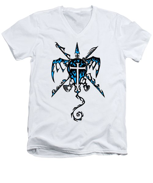 Shield Wing And Spears Men's V-Neck T-Shirt