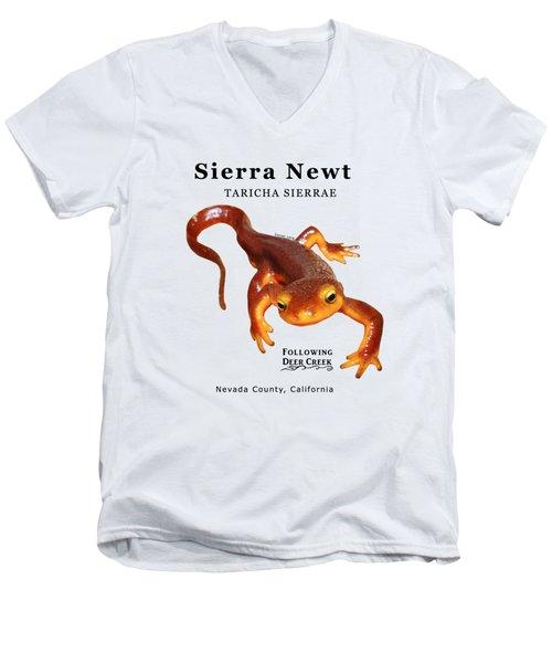 Sierra Newt - Black Text Men's V-Neck T-Shirt