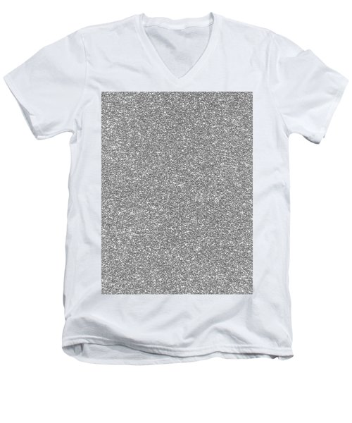 Silver Glitter  Men's V-Neck T-Shirt