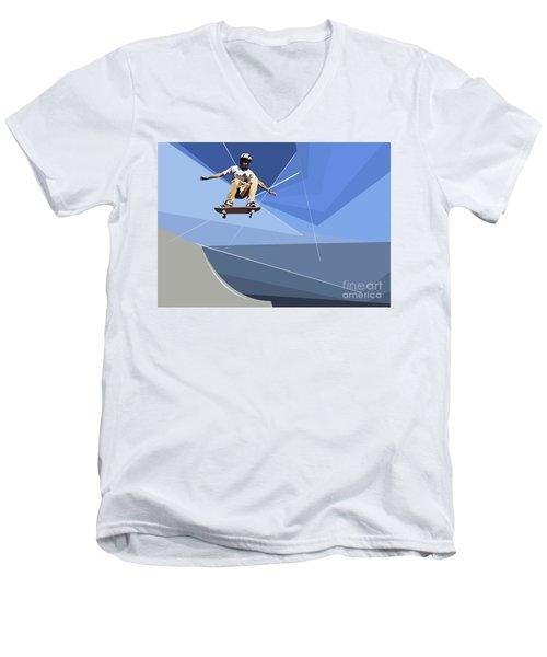 Skateboarder Men's V-Neck T-Shirt