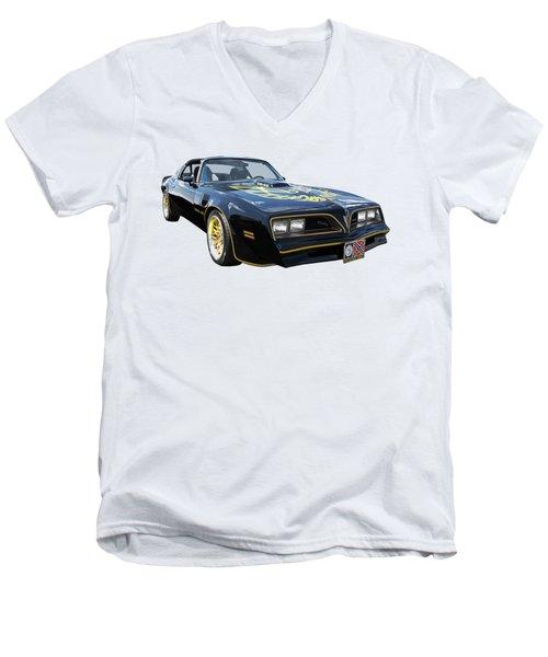Smokey And The Bandit Trans Am Men's V-Neck T-Shirt