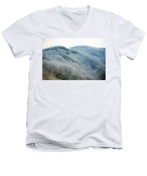 Soft Hoarfrost Men's V-Neck T-Shirt