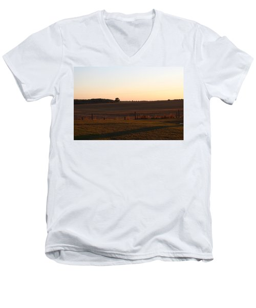 Somme Sunset Men's V-Neck T-Shirt