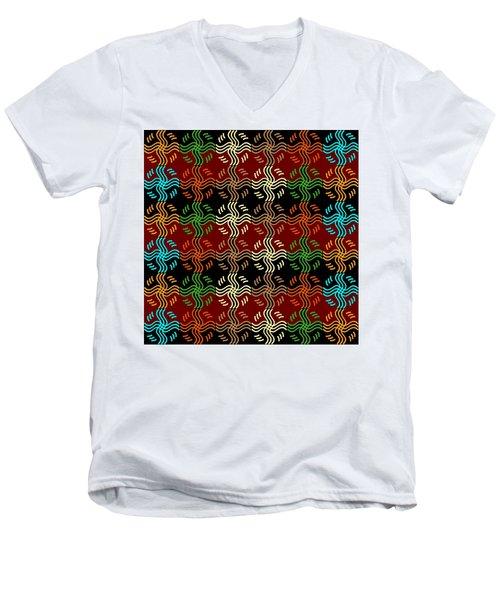 Southwestern Sun Tile Men's V-Neck T-Shirt