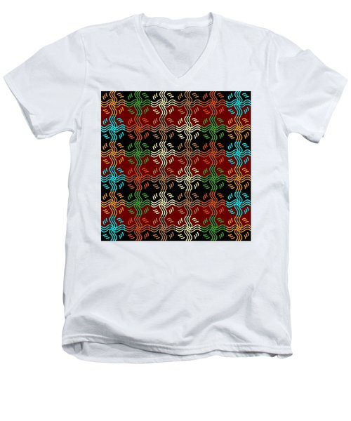 Southwestern Sun Tile Men's V-Neck T-Shirt