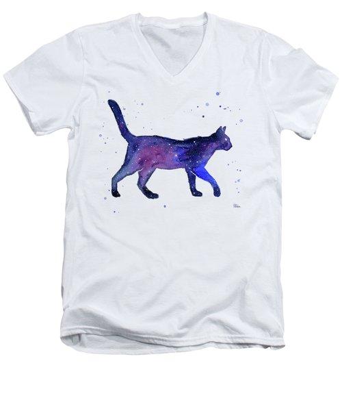 Space Cat Men's V-Neck T-Shirt