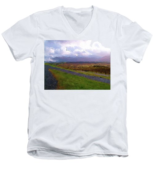 Spean Bridge Painting Men's V-Neck T-Shirt