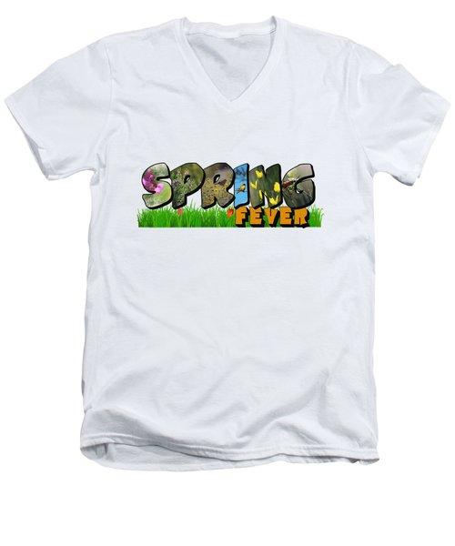 Spring Fever Big Letter Men's V-Neck T-Shirt