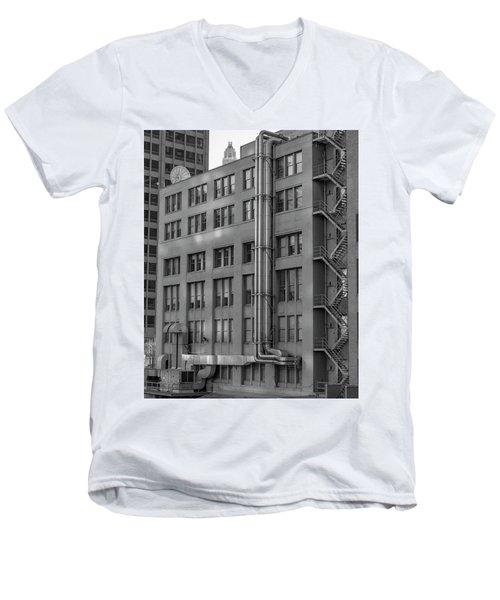 Squares And Lines Men's V-Neck T-Shirt