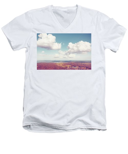 Sri Lankan Clouds In Pastel Men's V-Neck T-Shirt